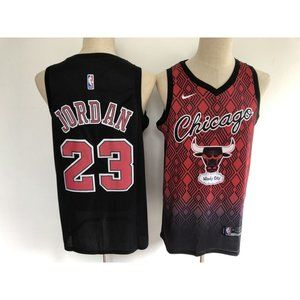 Chicago Bulls Michael Jordan Black Red Jersey
